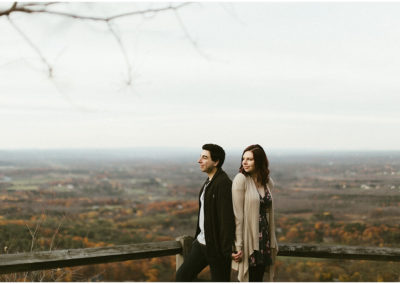 Thacher State Park Fall Engagement Session Upstate, NY | Kayla + Eric