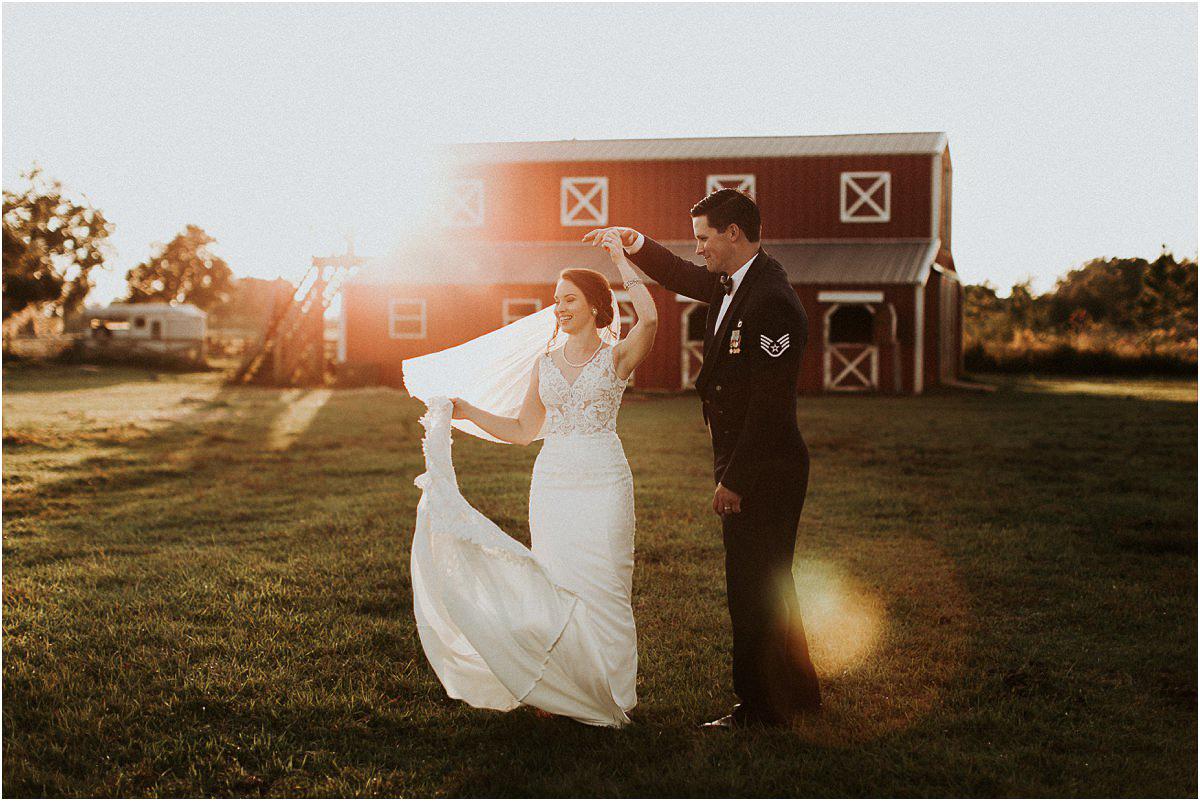 Rustic Backyard Fall Southern Charming Alabama Barn Simple Wedding