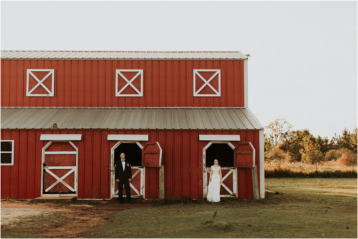 Rustic Backyard Fall Southern Charming Alabama Barn Simple Wedding