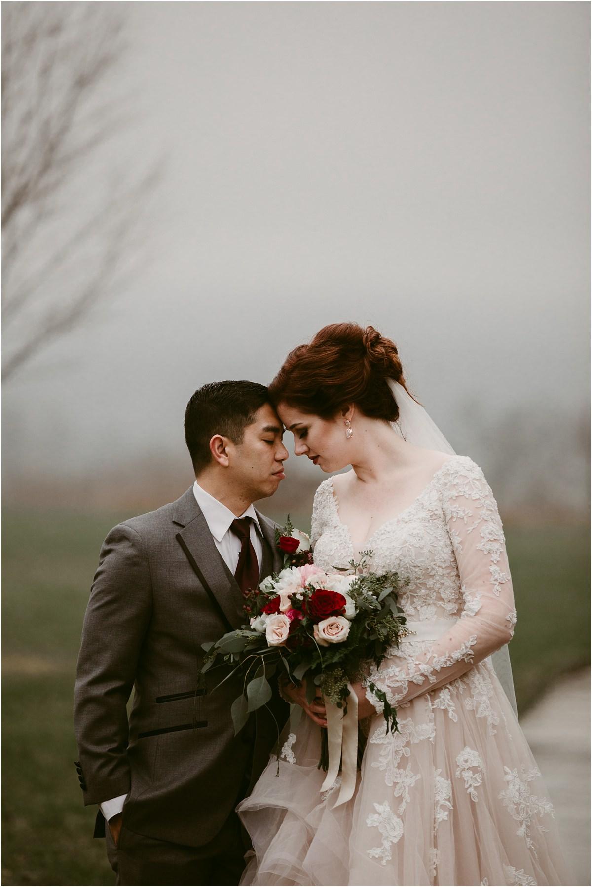 A romantic winter wedding at the patrick henry ballroom in roanoke virginia