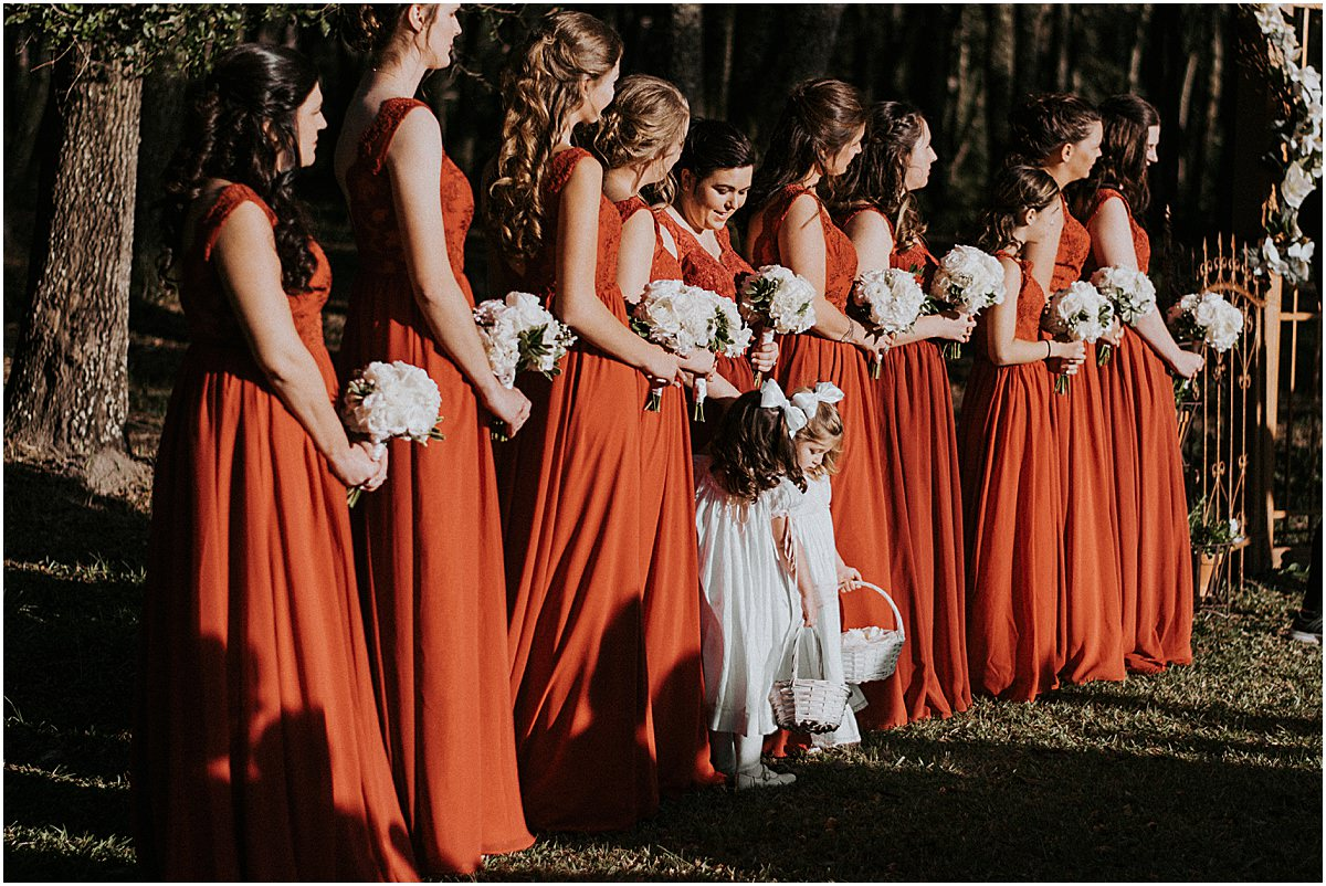 Rustic Backyard Fall Southern Charming Alabama Simple Wedding