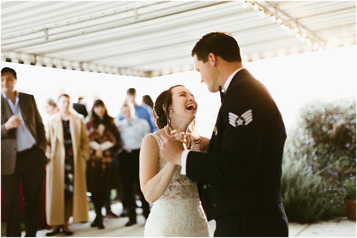 Rustic Backyard Fall Southern Charming Alabama Simple Wedding