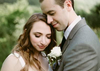 ashleigh + maurice / intimate airbnb mountainside wedding