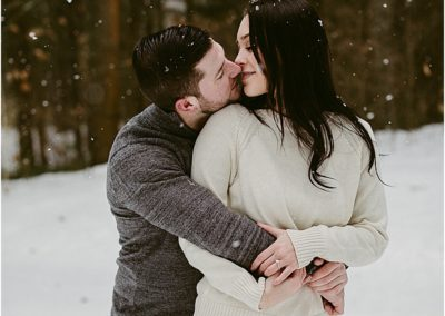 Snowy Engagement Photos in Albany, New York / New York Engagement Photographer