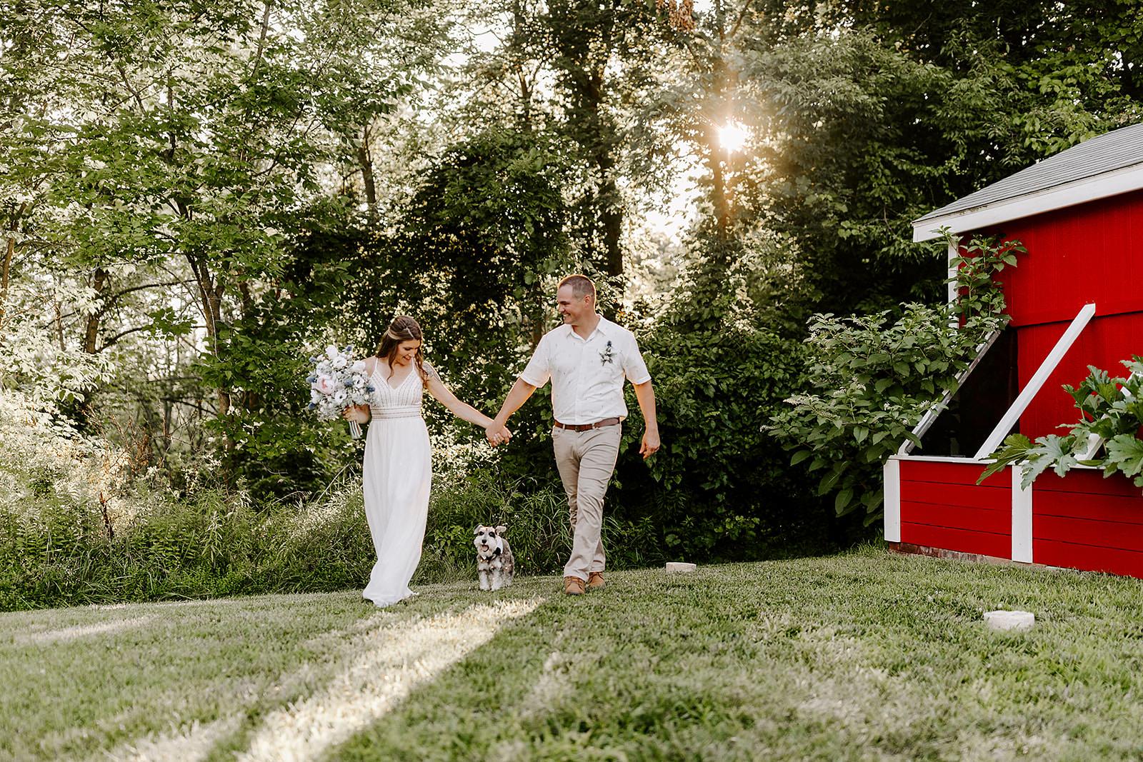Dave Jess Backyard Micro Wedding Covid Delmar New York Photographer