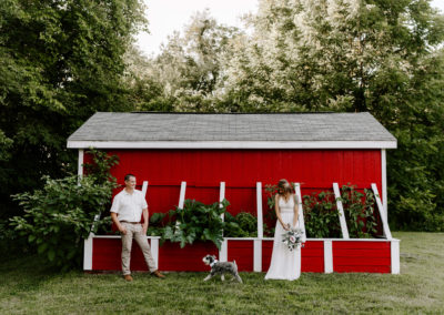Backyard Micro Wedding in Delmar, New York / Hudson Valley Wedding Photographer