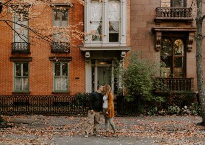 Fall Engagement Photos in Troy, New York / Catskills Wedding Photographer
