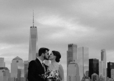 An Intimate Manhattan Elopement at Liberty State Park / New York City Wedding Photographer