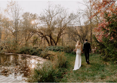 Fall Elopement in the Catskills / Micro Wedding at Wayside Cider Hudson Valley Wedding Photographer